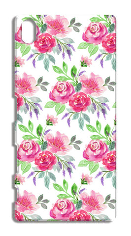 Elegant Pink Roses Spring Floral Watercolor Pattern Sony Xperia Z5 Cases | Artist : Seema Hooda