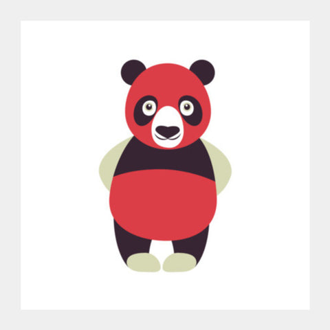 Red Panda Funny Square Art Prints PosterGully Specials