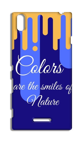 Colors are the smiles of nature Sony Xperia T3 Cases | Artist : Pallavi Rawal