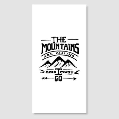 Mountains are calling Door Poster | Artist : Shrishti Chouhan