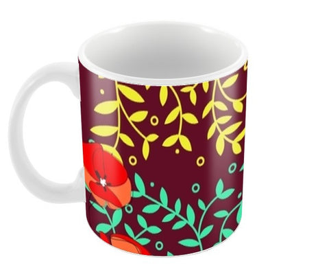 Plants Pattern Coffee Mugs | Artist : Pallavi Rawal