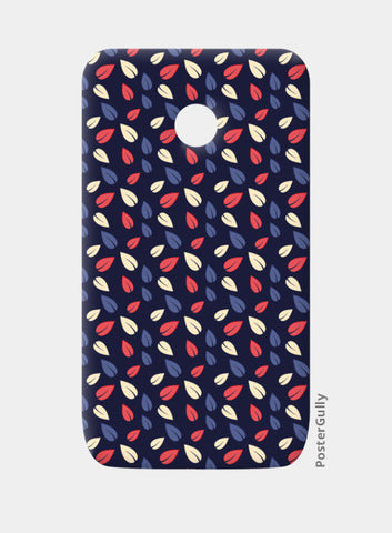 Seamless leaves multicolor vector pattern Moto E Cases | Artist : Designerchennai