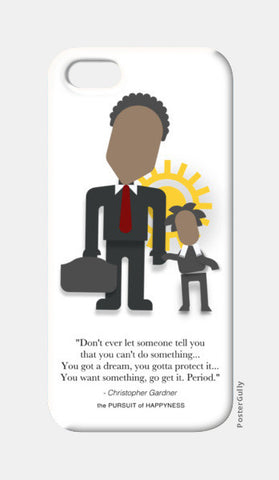 The Pursuit of Happyness | Will Smith | Inspirational Quotes iPhone 5 Cases | Artist : Sriparna Chandra