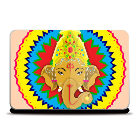 Ganesha Vector Illustration Laptop Skins | Artist : Ajay Seth