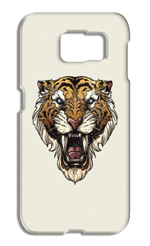 Saber Toothed Tiger Samsung Galaxy S6 Cases | Artist : Inderpreet Singh