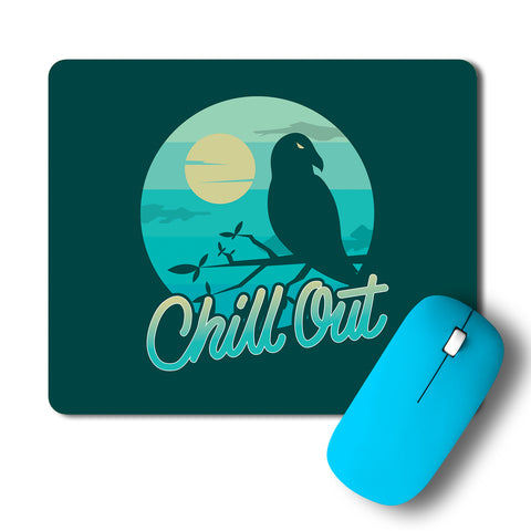 Crow Moon Chill Out Night Mousepad