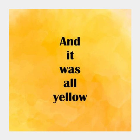 COLDPLAY : YELLOW Square Art Prints | Artist : Kau.Vish