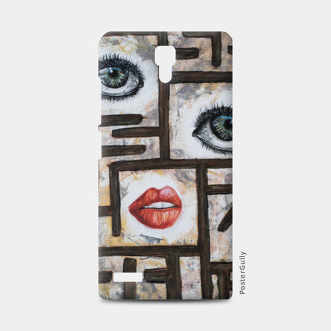 Maze behind my face Redmi Note Cases | Artist : Anitha Vallikunnel