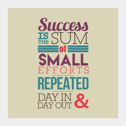 Success Typography Square Art Prints | Artist : Stuti Bajaj