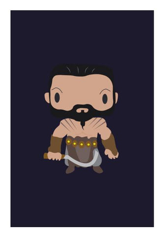 PosterGully Specials, Khal Drogo Games of Throne Funny Wall Art | Artist : Aniket Kamal, - PosterGully