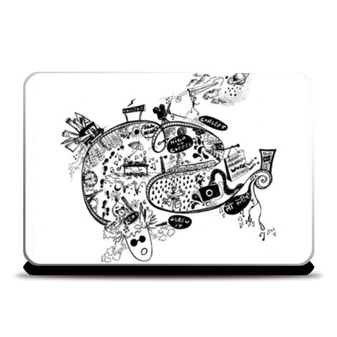 Laptop Skins, Living as an Architect- Doodle  Laptop Skins | Artist : Shivani Gupta, - PosterGully