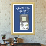 Video Games Premium Italian Wooden Frames | Artist : Manju Nk