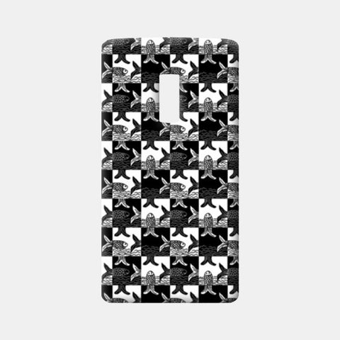 One Plus Two Cases, Black And White Checkered Fish Pattern  One Plus Two Cases | Artist : Seema Hooda, - PosterGully