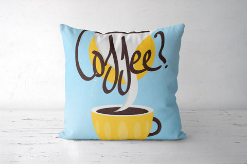 coffee art Cushion Covers | Artist : Fariya Arts