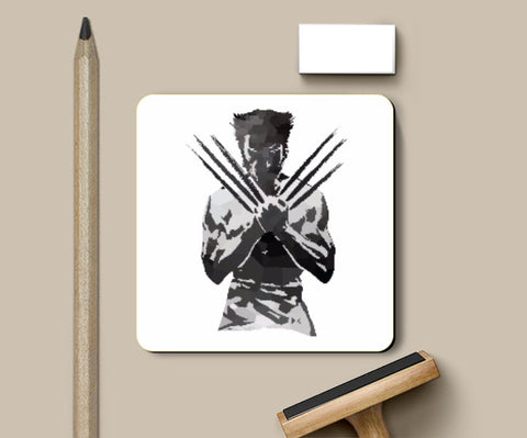Coasters, Low Poly Wolverine Coaster | Artist: Darshan Gajara, - PosterGully