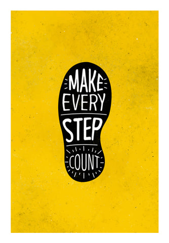 Make Every Step Count Wall Art | Artist : Inderpreet Singh