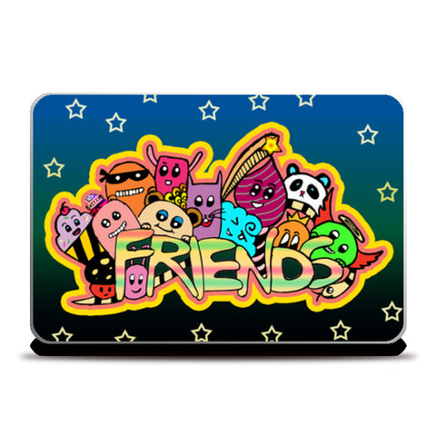 Friends Doodle!! Laptop Skins | Artist : Design_Dazzlers