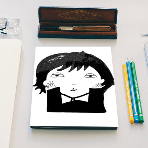 Black and White funny illustration Notebook | Artist : Vaishnavi Gajapure