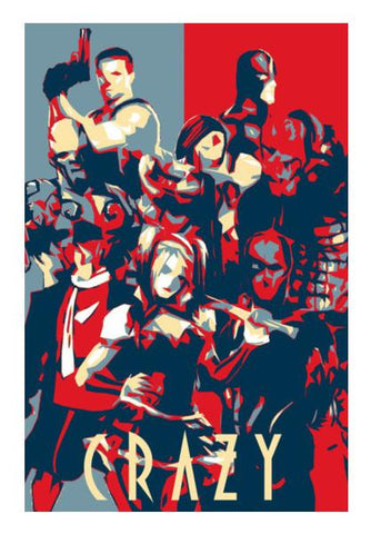 PosterGully Specials, Suicide Squad Wall Art | Artist : LinearMan, - PosterGully
