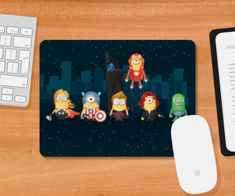 Mousepad, Minion Avengers Night Mousepad | Artist : Ronak Mantri, - PosterGully