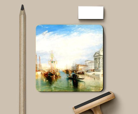 Venice, from the Porch of Madonna della Salute by Joseph Mallord William Turner Coasters | Artist : Aditya Gupta