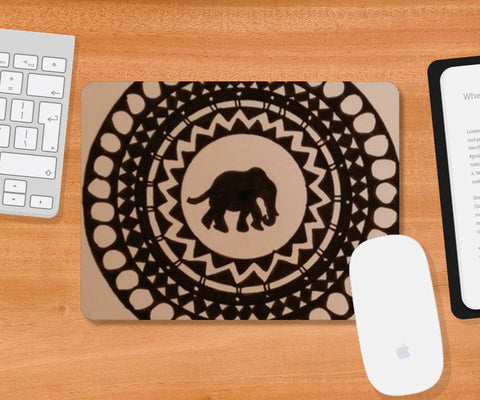 Elephant world Mousepad | Artist : Shambhavi Varma