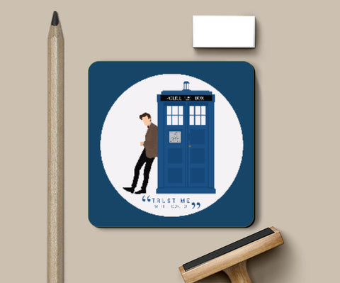 Coasters, The Doctor and TARDIS Coaster | Artist: Mohak Gulati, - PosterGully