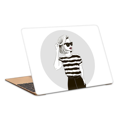 Fashionista Striped Top Minimal Artwork Laptop Skin