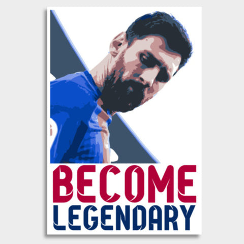 Lionel Messi - Become Legendary Giant Poster | Artist : Syamantak Dubey