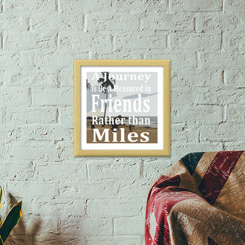 The Journey Premium Square Italian Wooden Frames | Artist : Stoned_arse_design