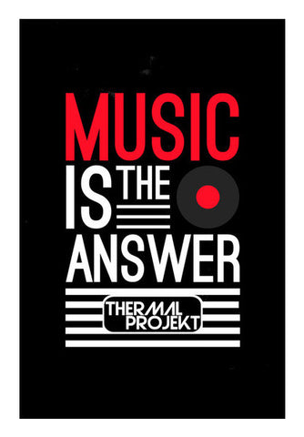 Wall Art, Music Is The Answer Wall Art | Artist : Thermal Projekt, - PosterGully