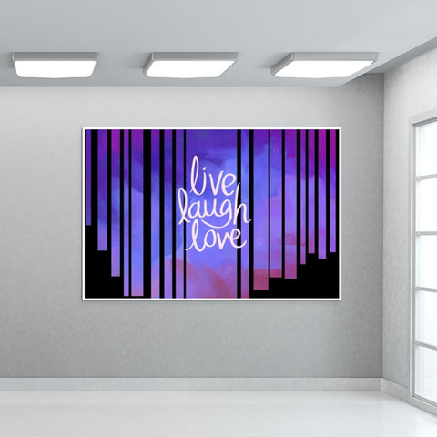 Live Laugh Love Quote Giant Poster | Artist : Pallavi Rawal