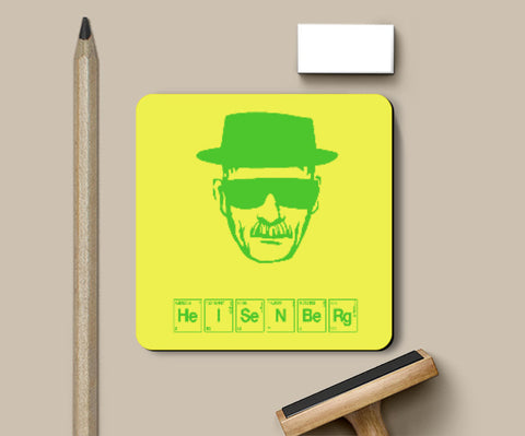 Coasters, Breaking Bad - Heisenberg Coaster | Artist: Shivam Dhuria, - PosterGully