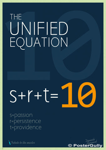 Wall Art, SRT 10 Unified Equation 1 | Artist: Dewesh Agrawal, - PosterGully - 1