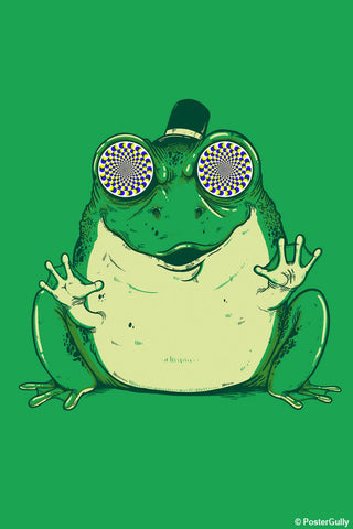 Wall Art, Hynogenic Toad - Green | By Captain Kyso, - PosterGully - 1