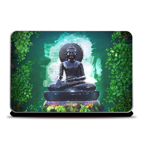 Buddha peace comes from within Laptop Skins | Artist : Cuboidesign