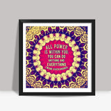 Typography Art Square Art Prints | Artist : Delusion
