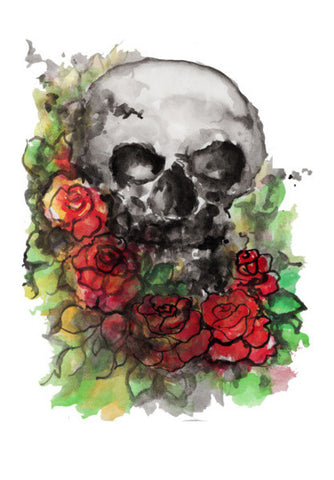 a skull symbolize our morality and death's relationship to life. Wall Art | Artist : amit kumar