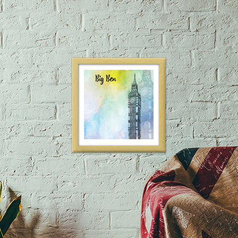 Big Ben - London Premium Square Italian Wooden Frames | Artist : Creative DJ