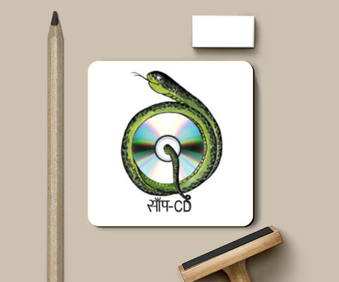 PosterGully Coasters, SAAP -CD Coasters | Artist : amit kumar, - PosterGully