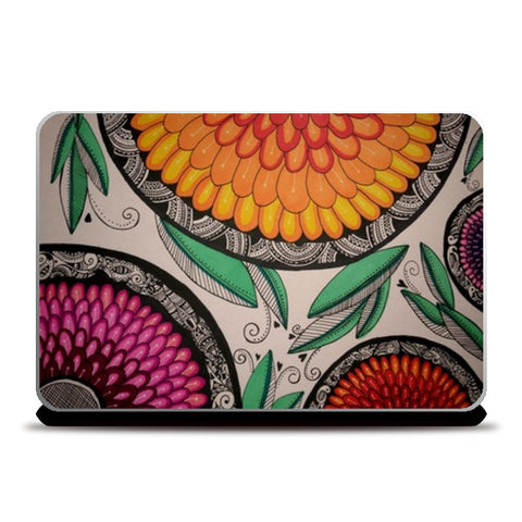Laptop Skins, Full Bloom Laptop Skins | Artist : Kathak Trivedi, - PosterGully