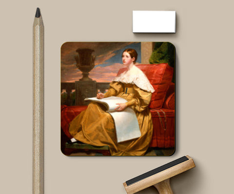 Susan Walker Morse (The Muse) by Samuel F. B. Morse Coasters | Artist : Aditya Gupta