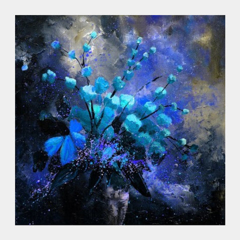 Square Art Prints, Blue still life 45 Square Art Prints | Artist : pol ledent, - PosterGully