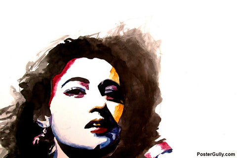 Wall Art, Madhubala II Watercolor Artwork | Artist: Sunanda Puneet, - PosterGully - 1