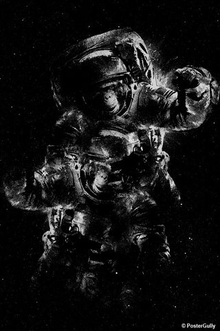 Wall Art, Lost In Space - Black Var2 | By Captain Kyso, - PosterGully - 1