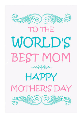 Typography World's  Best Mom Art PosterGully Specials