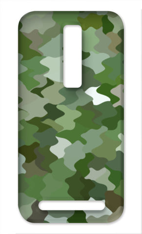Cool Green Camouflage Pattern Asus Zenfone 2 Cases | Artist : Seema Hooda