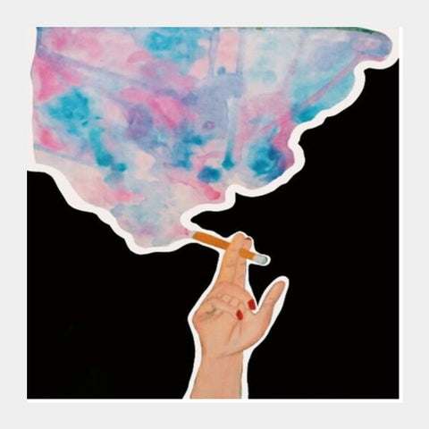 Colourful Smoke Square Art Prints | Artist : Priyanka Paul