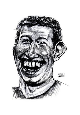 Wall Art, Mark Zuckerberg Caricature Wall Art | Artist : Karthik Abhiram, - PosterGully