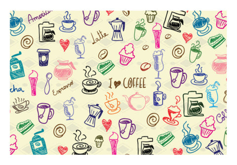 Wall Art, I Love Coffee Wall Art | Artist: Pratyusha Subramaniam, - PosterGully
